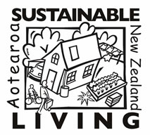 Sustainable Living Black and White Logo - Web