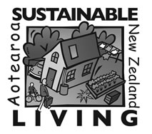 Sustainable Living Greyscale Logo - Web
